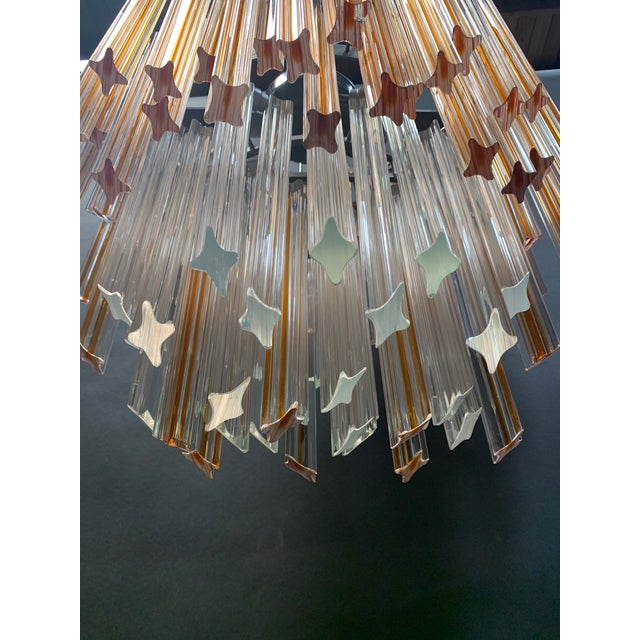 1970s Vintage 1970s Venini Murano Glass Chandelier For Sale - Image 5 of 12