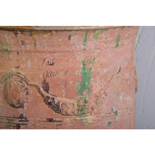 Green Pair of Large 18th Century Anduze Jars For Sale - Image 8 of 11