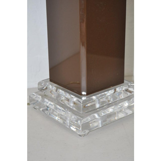 Vintage Brown Lucite Table Lamp - Image 5 of 6