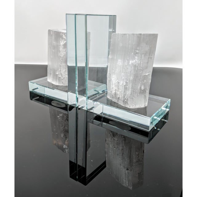 Lead Crystal & Selenite Bookends - Two (2) For Sale In Providence - Image 6 of 11