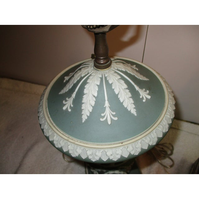 Wedgewood Jasperware Urns Mounted as Lamps - a Pair For Sale In New York - Image 6 of 10