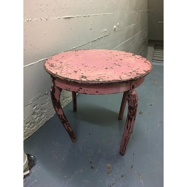 Vintage Pink End Table - Image 2 of 3