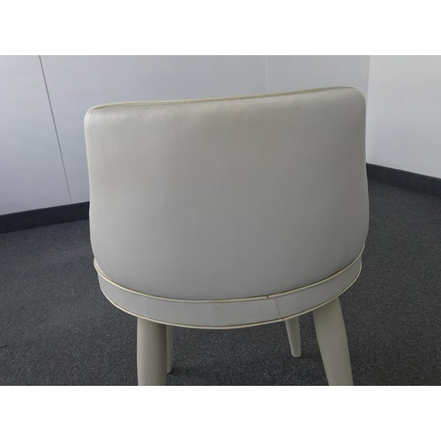 Vintage Mid Century Modern Tapered Legs Vanity Chair For Sale - Image 10 of 13