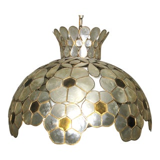 Capiz Shell Chandelier / Lighting Fixture For Sale