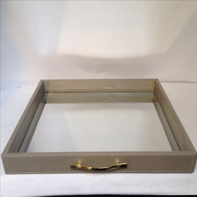 Large Shagreen-Texture Mirrored Tray - Image 7 of 7