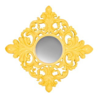Yellow Wall Mirror For Sale