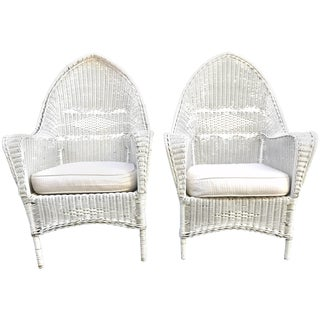 1920s Wicker Armchairs, Property of the Beales of Grey Gardens - a Pair For Sale
