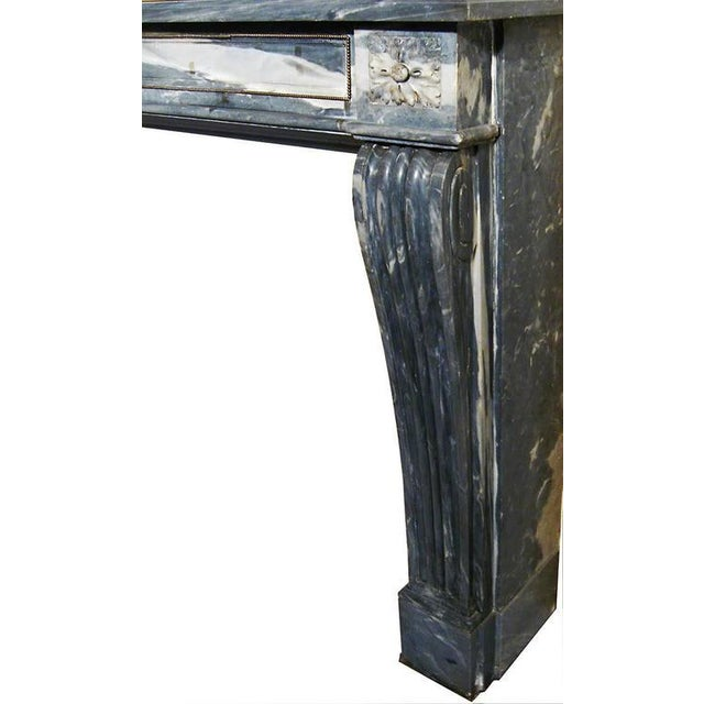 Italian 19th Century Italian Carrara Marble Fireplace Mantle For Sale - Image 3 of 4