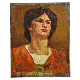 Antique Oil Painting by Anne Fleckenstein For Sale