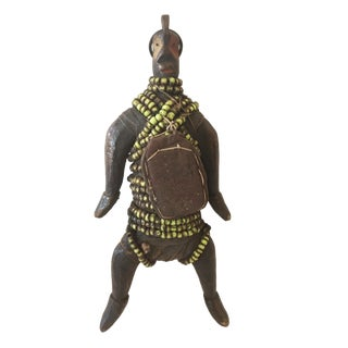 """African Fertility Beaded Doll Cameroon 8.25"""" H For Sale"""