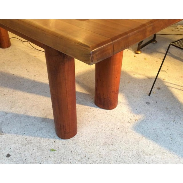 Andre Sol Solid Wood Long Table with Perriand Accent.