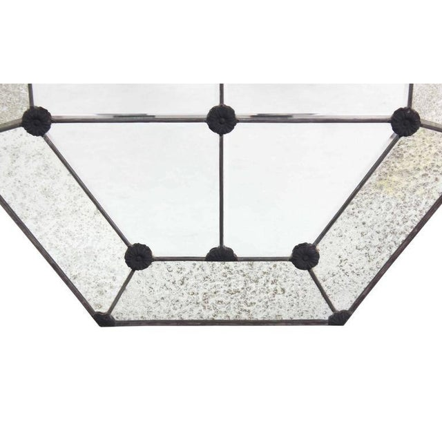 Early 20th Century Pair of Large Octagon Wall Mirrors For Sale - Image 5 of 8