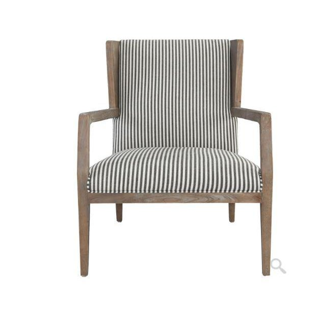 Bring on the Hamptons! As a bold variation on a traditional silhouette, this accent chair features a wood frame that...