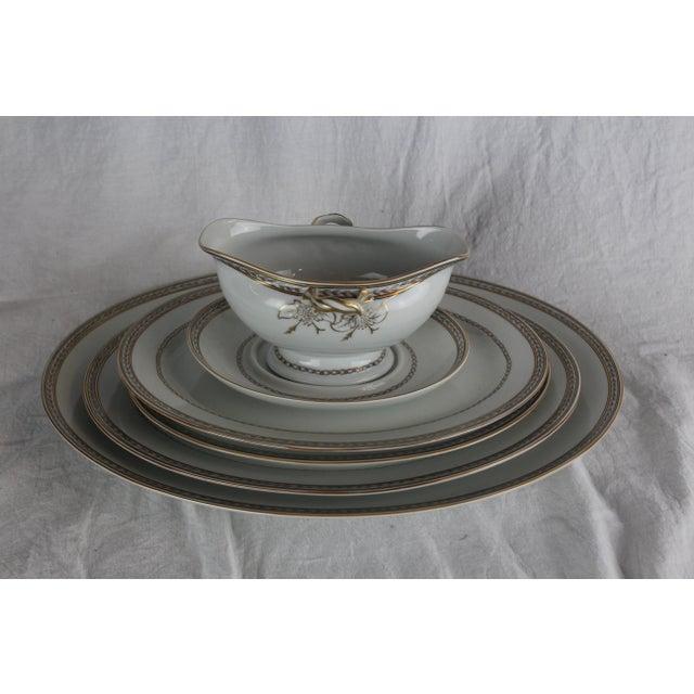 Ceramic Vista Alegre Platters & Gravy Boat - Set of 6 For Sale - Image 7 of 8