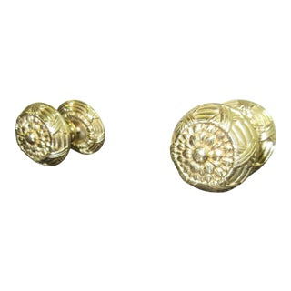 Vintage Brass French Regency Drawer Pulls - A Pair