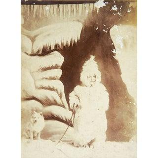 1887 Cabinet Photo Little Esquimaux Lady Olof Krarer For Sale