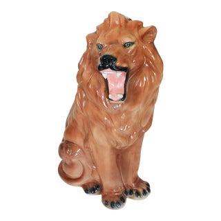 Ceramic Lion Figure For Sale