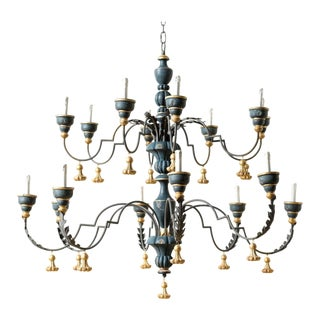 Traditional Charcoal Wooden Geno Chandelier
