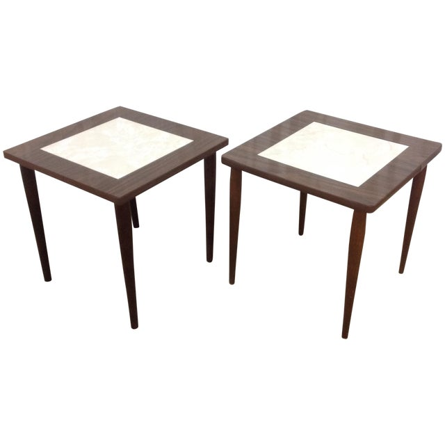 Mid Century Side Tables With Formica Tops - 2 For Sale