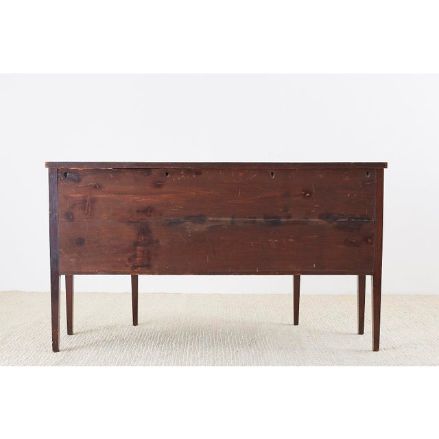 American Federal Mahogany Bow Front Sideboard For Sale - Image 12 of 13