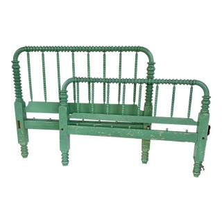Antique Jenny Lind Green Rope Bed For Sale