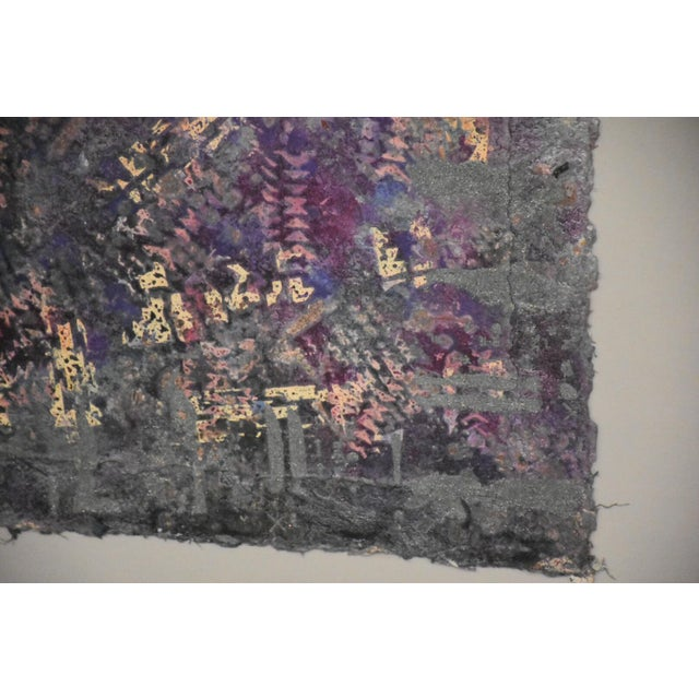 1980s Purple Abstract Modern Art For Sale - Image 5 of 10
