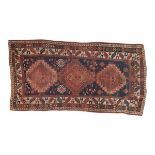 "Antique Kazak Rug Runner - 3'9"" x 7'2"" For Sale"