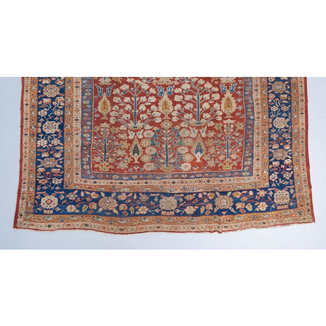 Red Ground Mahal Carpet For Sale - Image 4 of 6