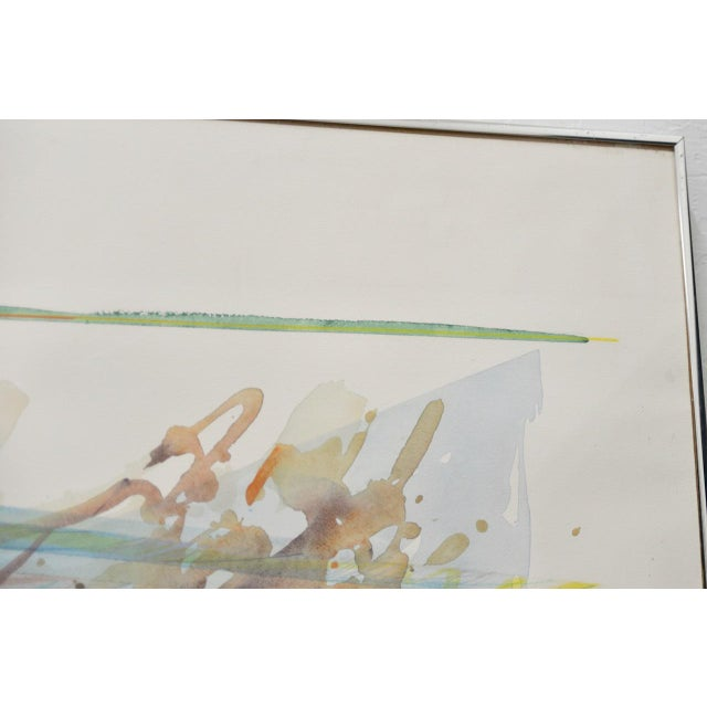 """Peter Kitchell """"Zorro"""" Monumental Abstract Watercolor c.1979 For Sale - Image 4 of 7"""