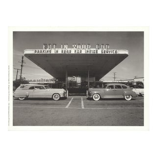 Loomis Dean 'Drive-In Restaurant, Los Angeles' Photography France Offset Lithograph For Sale