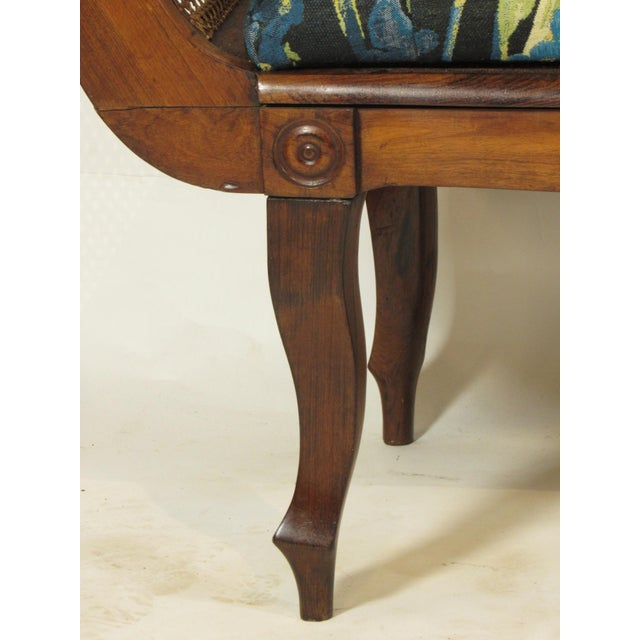 19th C. British Colonial Rosewood Settee For Sale - Image 9 of 13