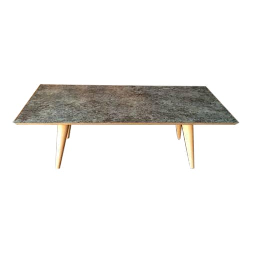 Contemporary Mid-Century Style Formica Coffee Table For Sale
