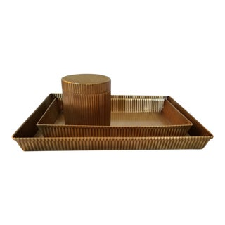 Redon Tray Set & Canister - Set of 3 For Sale