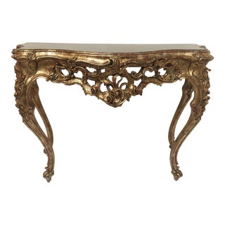 1960s Louis XVI Style French Giltwood Console For Sale