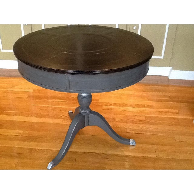 Upcycled Vintage Drum Table For Sale - Image 4 of 11
