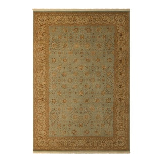 Istanbul Francisc Lt. Blue/Beige Turkish Hand-Knotted Rug -12'2 X 18'5 For Sale