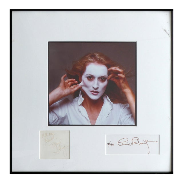 1981 Annie Leibovitz Photograph of Meryl Streep,Signed by Both, Numbered 4/40 For Sale