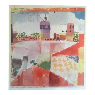 "Paul Klee Vintage 1967 Original Lithograph Print "" Hammamet With Mosque "" 1914"