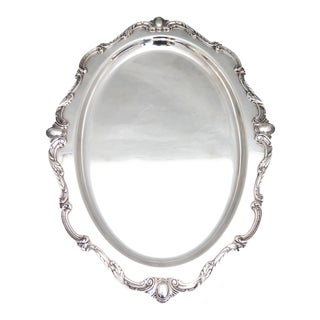 "Wilcox Silver ""Rochelle"" Platter For Sale"