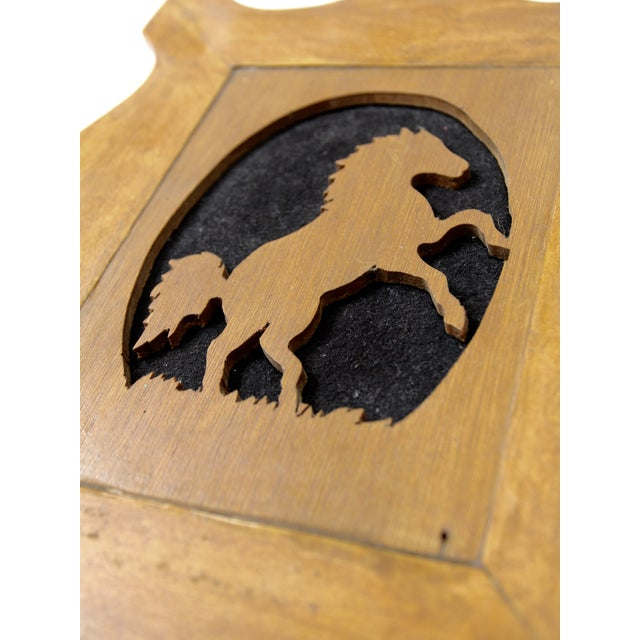 Mid 20th Century Vintage Wood Silhouette Horse Art For Sale - Image 5 of 6