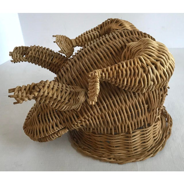 Brown 20th Century Country Wicker Frog Planter Basket For Sale - Image 8 of 9