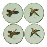 Image of 1950s Vintage Abercrombie & Fitch Game Bird Coasters - Set of 4 For Sale
