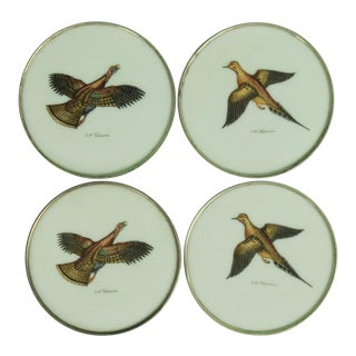 1950s Vintage Abercrombie & Fitch Game Bird Coasters - Set of 4
