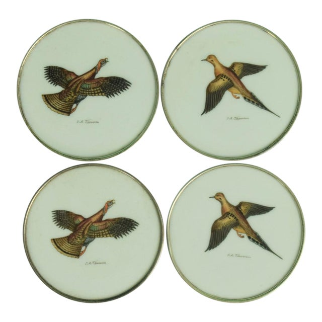 1950s Vintage Abercrombie & Fitch Game Bird Coasters - Set of 4 For Sale