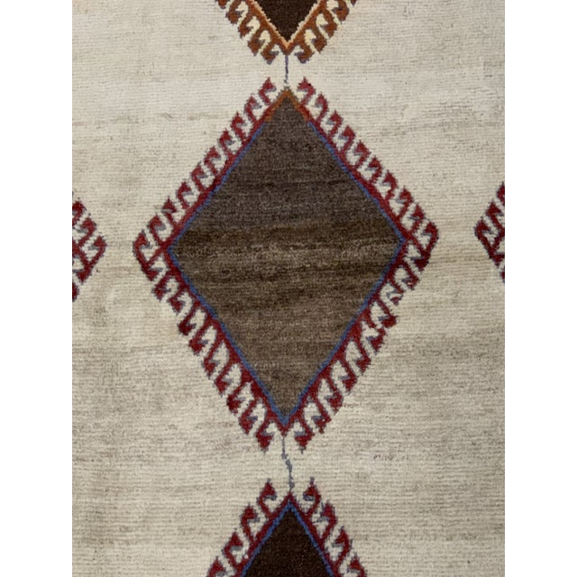 Islamic 1960s Vintage Persian Gabbeh Rug - 4′2″ × 6′4″ For Sale - Image 3 of 13