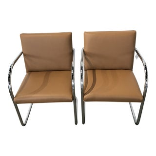 1950s Mid-Century Modern Bruno Tubular Chrome Chairs - a Pair For Sale