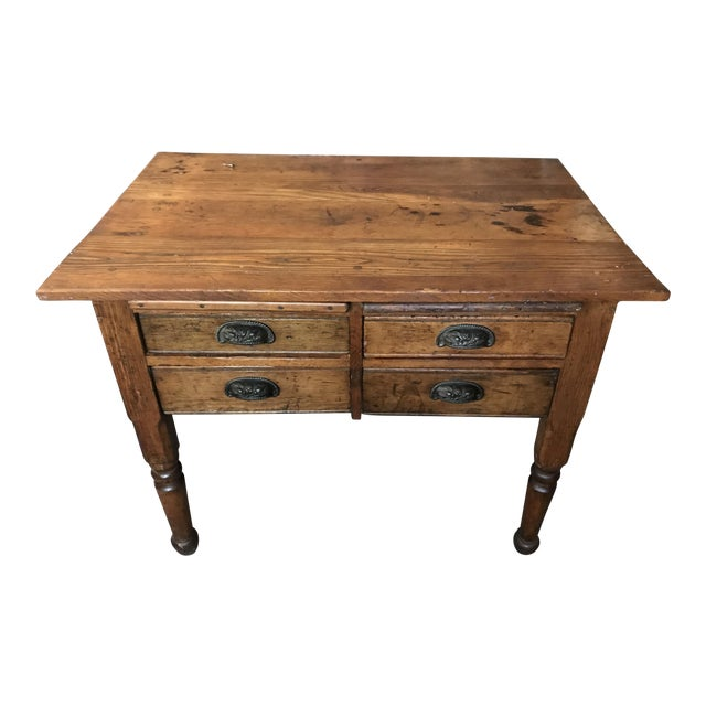 Antique Oak Feed Table For Sale