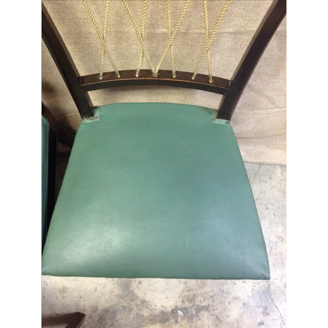 Mid-Century Italian Rope Back Dining Chairs - Set of 6 - Image 10 of 11