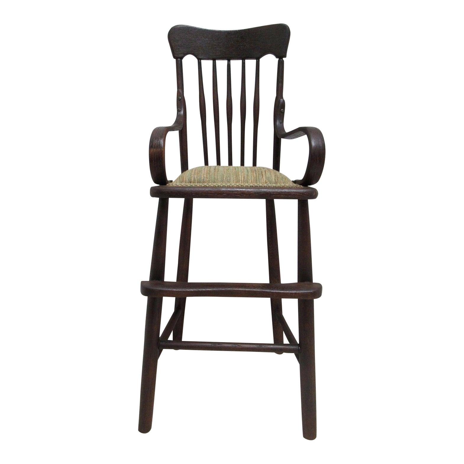 - Antique Tiger Oak Child's High Chair Chairish