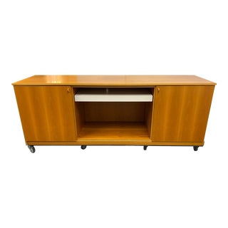 Molteni & Company 505 Collection Teak Office Credenza For Sale